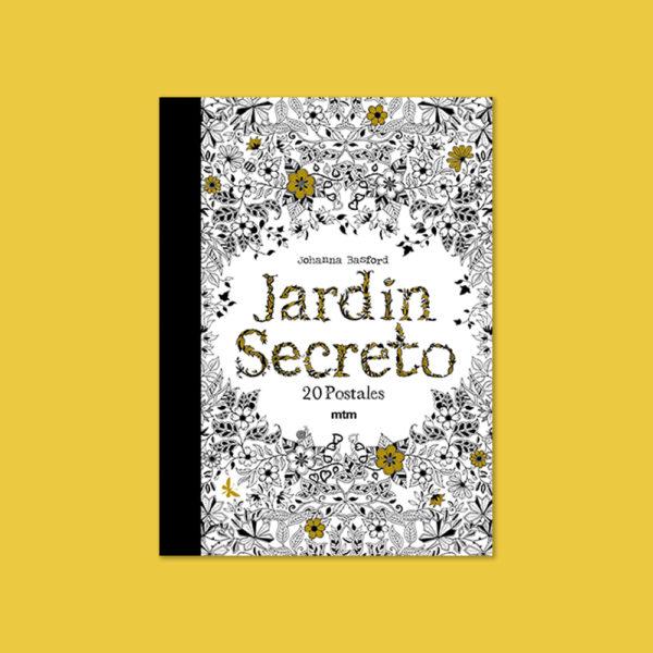 Jardín-secreto-postales-para-colorear