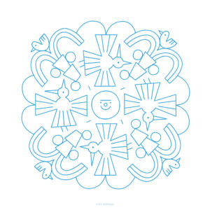 cuaderno azul de mandalas